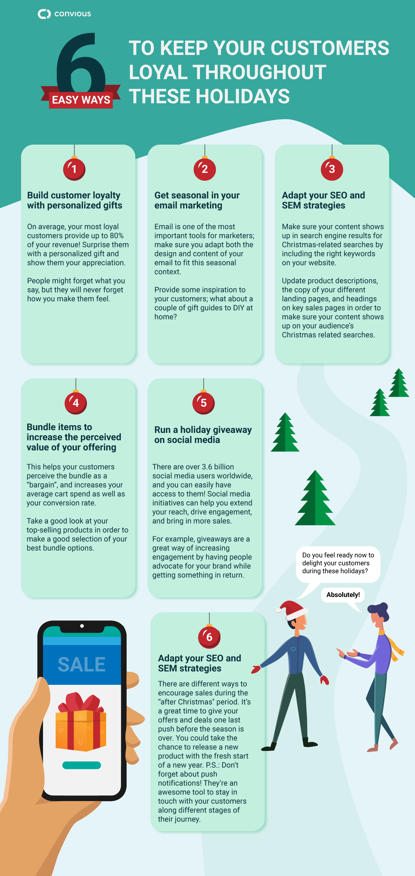 Holiday Marketing Tips and Tricks Infographic