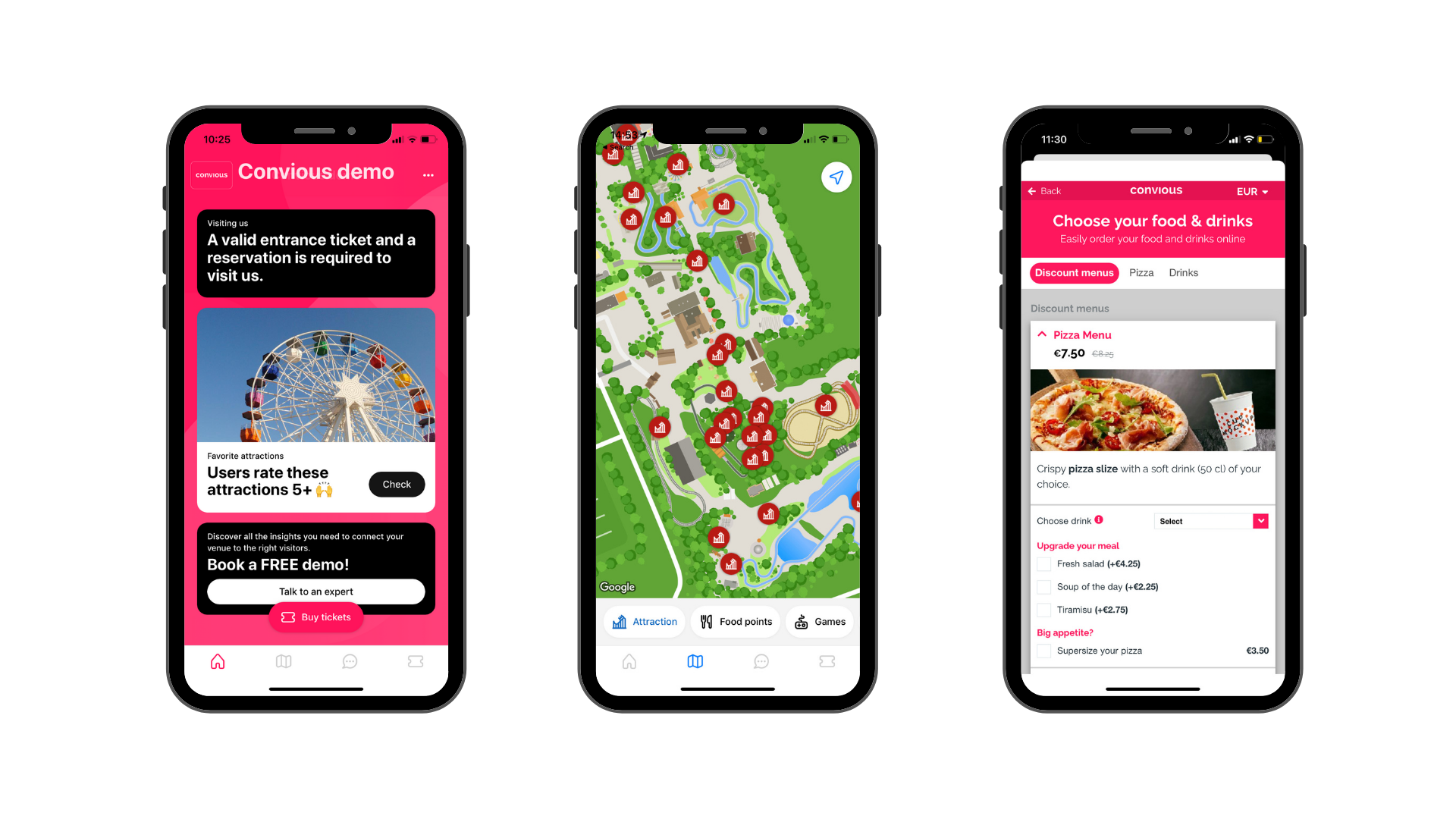 Park maps, Mobile Food Ordering and placing content - everything your visitor needs at the tip of their fingers with Tap from Convious