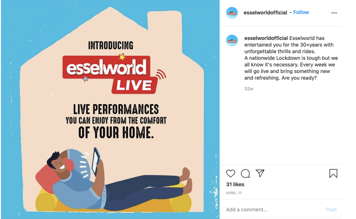 Esselworld India Live Instagram Campaign