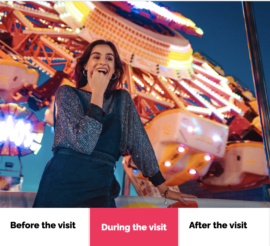Automate and enrich your visitor experience along the entire Customer Journey with smart tools - during the visit