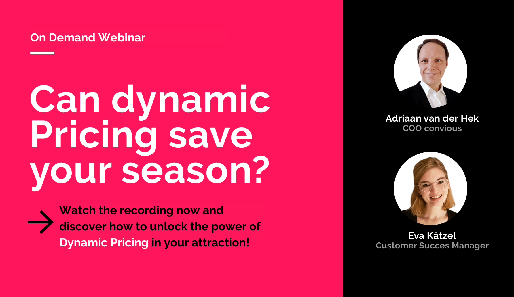 Watch the recording now and discover how to unlock the power of Dynamic Pricing in your attraction