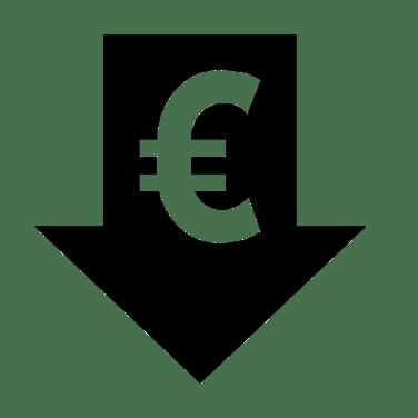 euro icon in an arrow